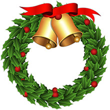 Holiday Wreath Clipart.