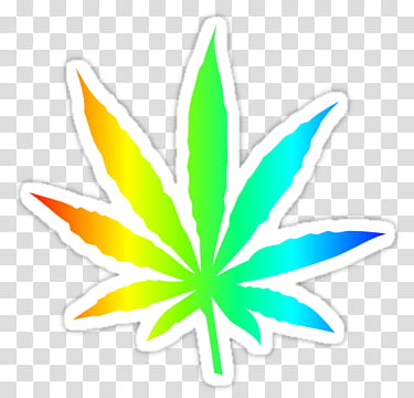 WEBPUNK , multicolored Cannabis leaf art transparent.