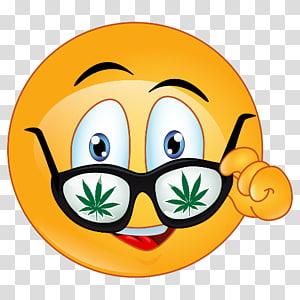 Emoji illustration, Android Emoji Mobile Phones, weed.