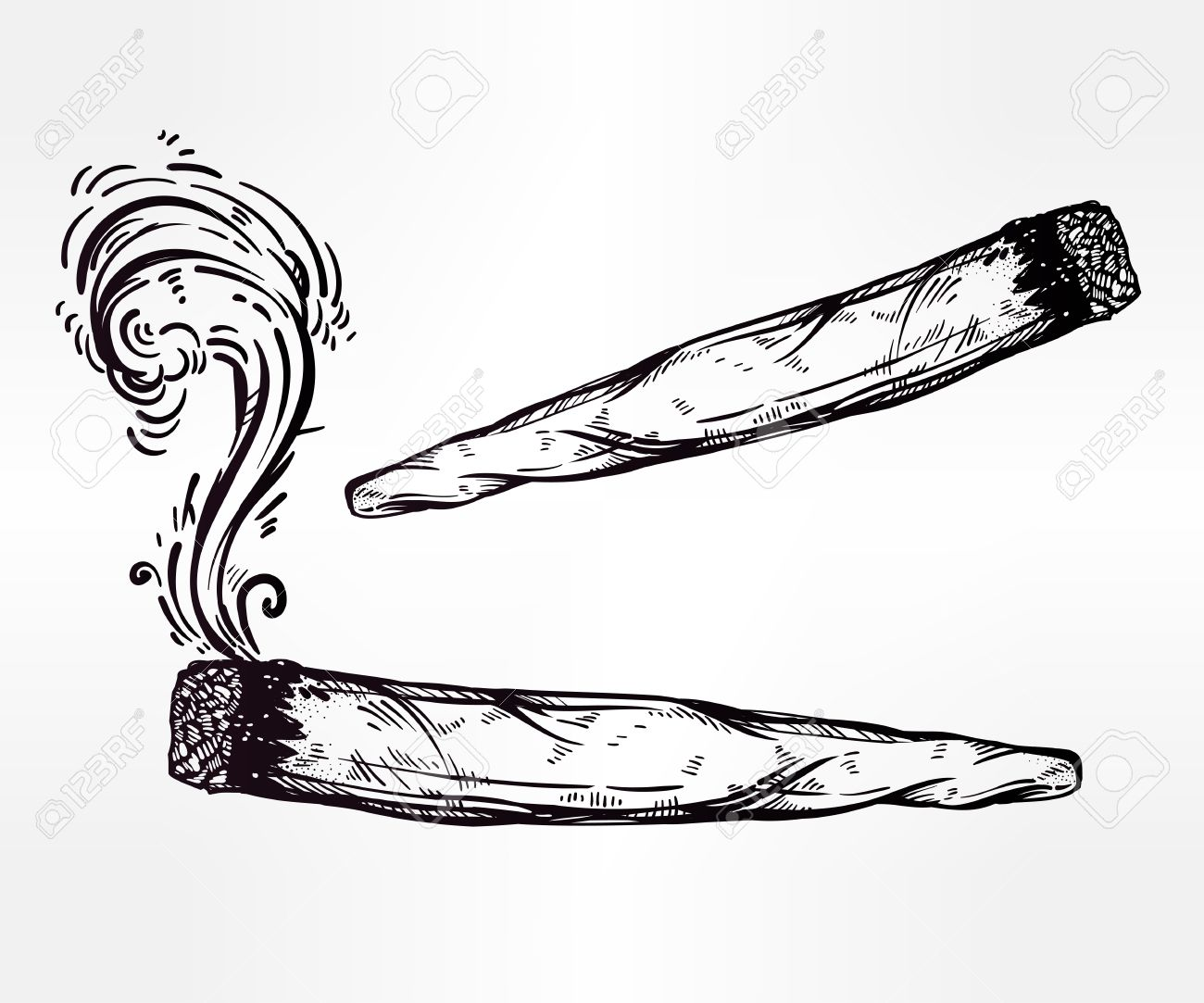 Weed Joint Clipart.