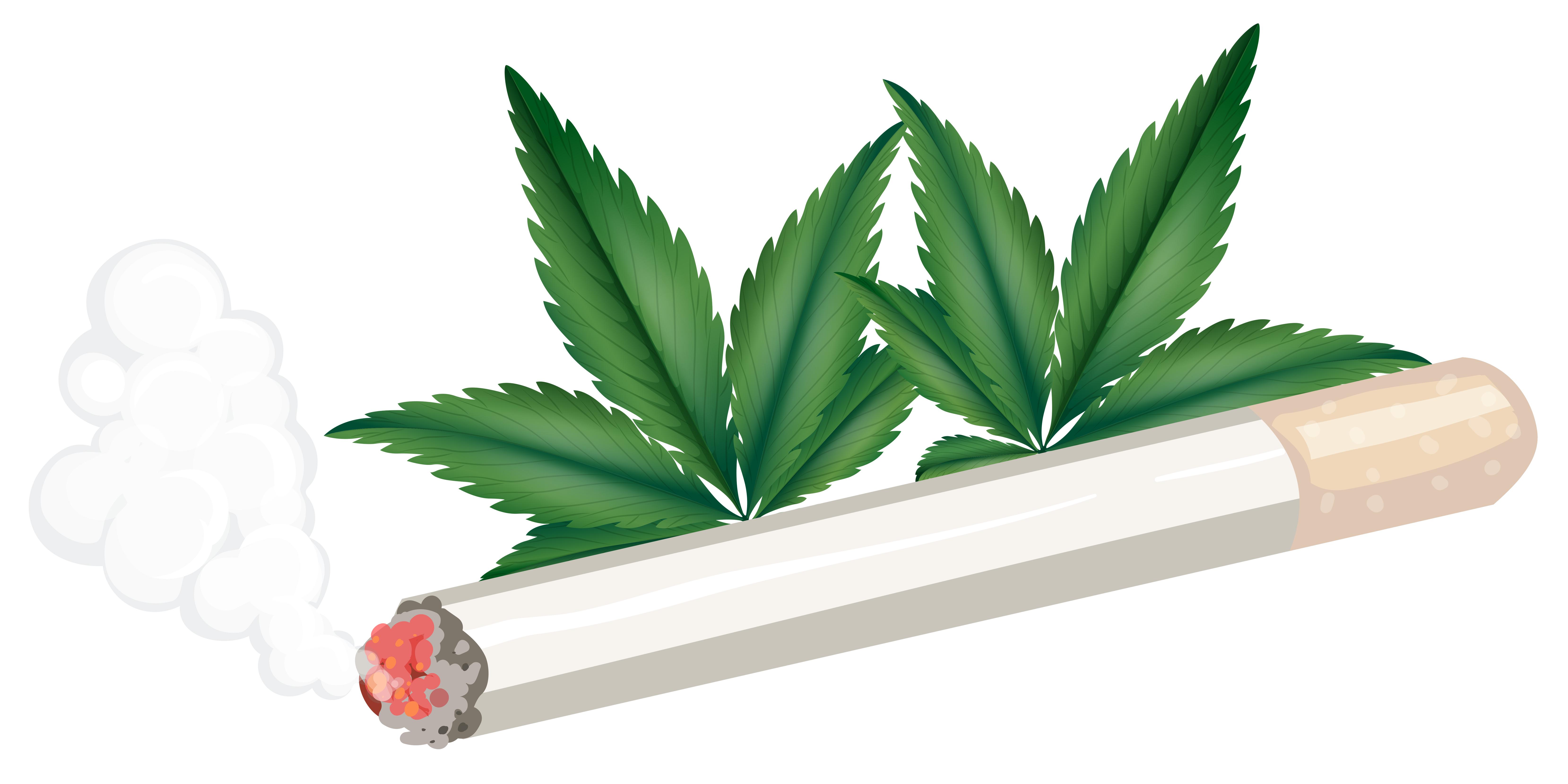 Smoking Joint Free Vector Art.