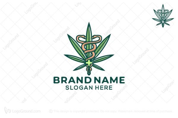 Exclusive Logo 152298, Medicinal Cannabis Logo.