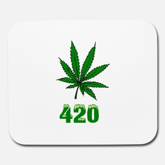 420 POT MARIJUANNA WEED LEAF Mouse pad Horizontal.