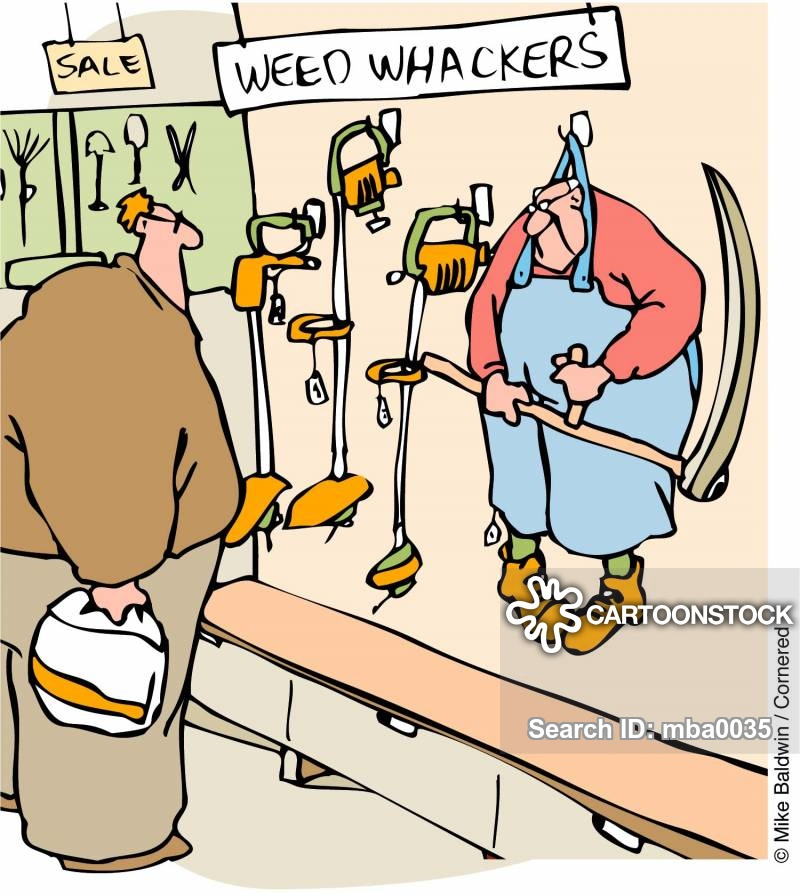 Weed Wacker Cartoons and Comics.