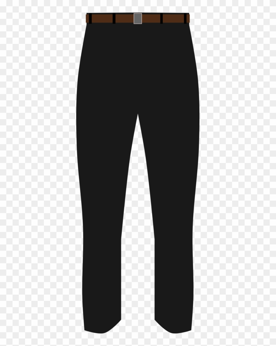 Basic Black Pants Clip Art.