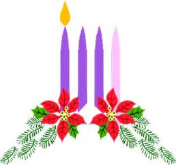 Week One Advent Candles Clipart.