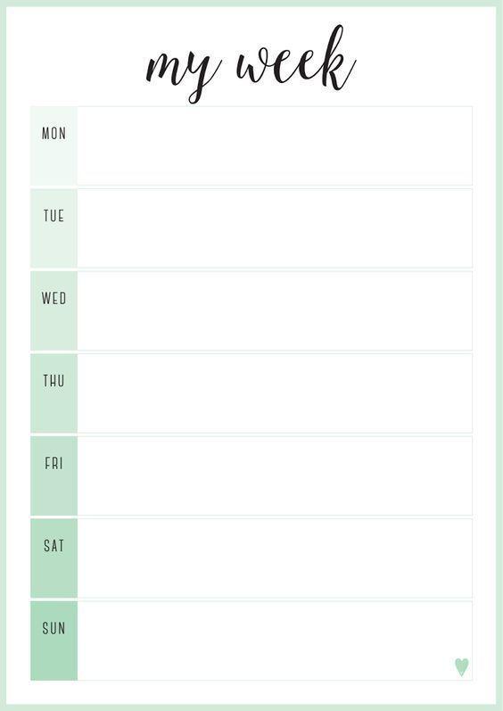 Calendar #Clipart #design #templ #Template #weekly.