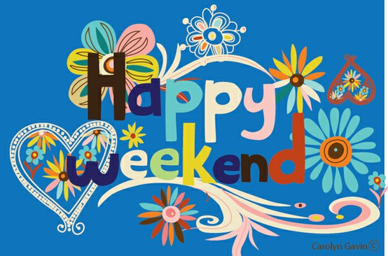 Happy Weekend Clipart.