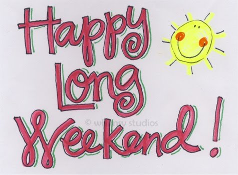 Long weekend clipart.