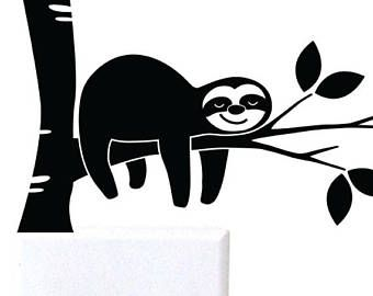 Image result for sloth clipart black and white.