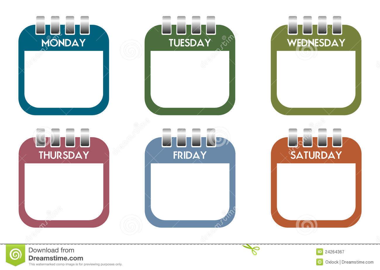 Weekly Calendar Clipart.