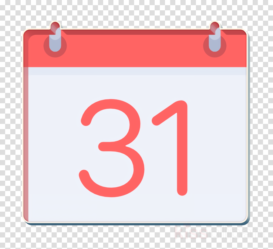 Day icon Weekly calendar icon Management icon clipart.
