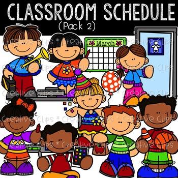 Classroom Schedule Kids: School Clipart {Kid Clipart}.