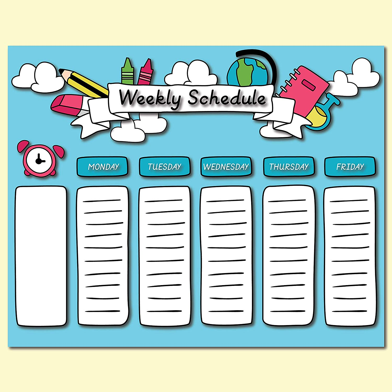 Amazon.com: Weekly Schedule Poster.