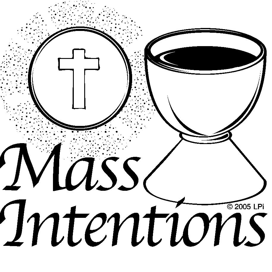 Mass Intentions Clipart.