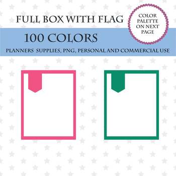 100 Checklist Full Box Clipart, Erin Condren Full Box Weekly Planner, Money.
