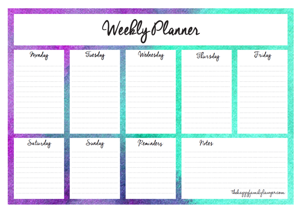 Download your free Weekly Planners now.