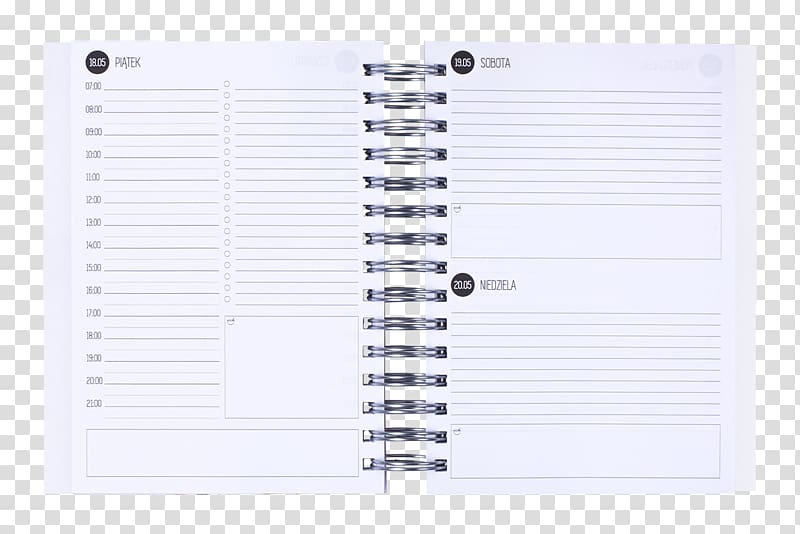 Paper Notebook, daily planner transparent background PNG.