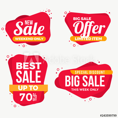 Sale Labels Tag Banner Collection.