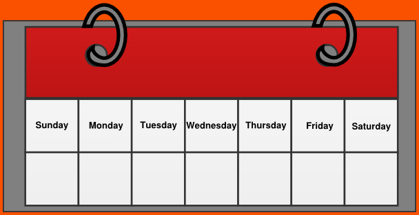 Weekly Schedule Clipart.