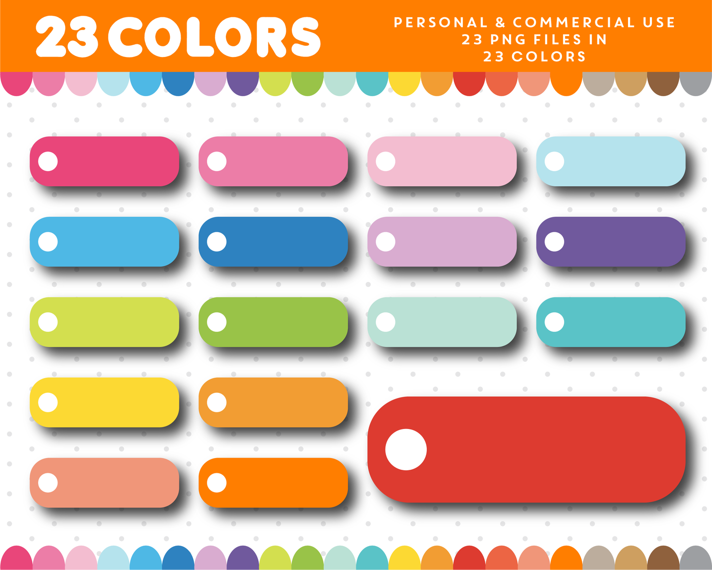 Header clipart with round checkbox clipart for sticker.