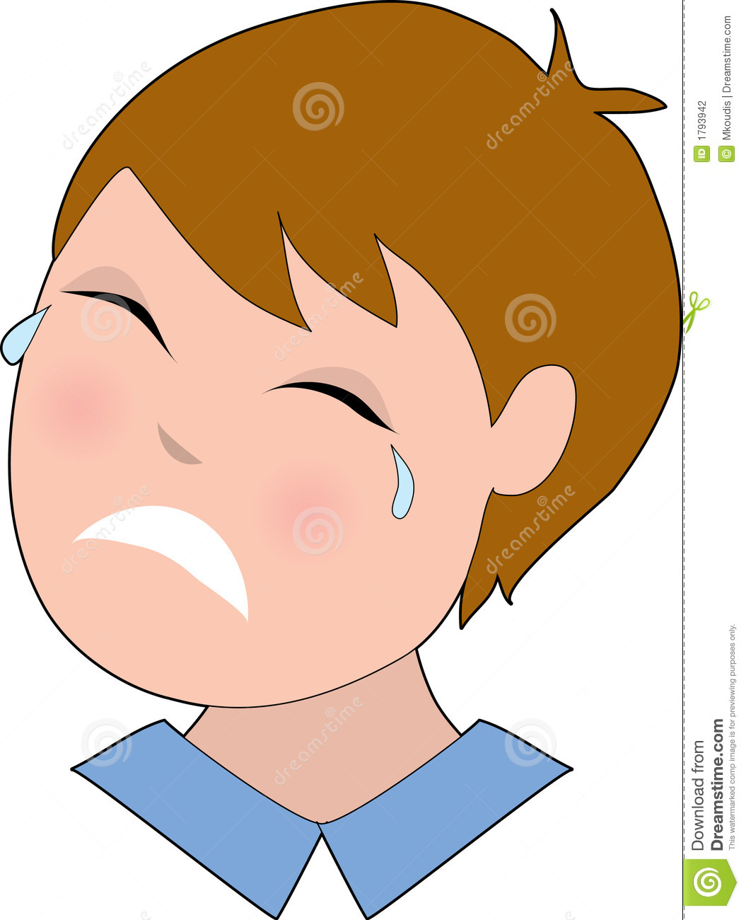 Man Crying Clipart.
