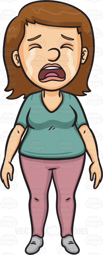 Woman Crying Clipart.
