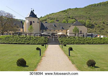 Stock Photo of Exterior view of Machern Monastery, Bernkastel.