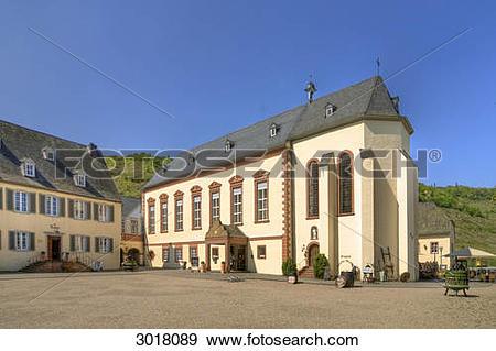 Stock Photograph of Inner yard of Machern Monastery, Bernkastel.
