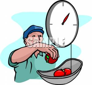 Fruit Weigh Clipart.