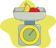 Food Scale Clipart.