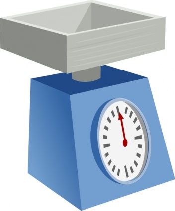 Kitchen Scales clip art free vector.