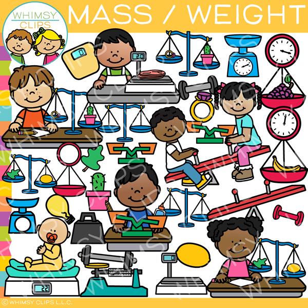 Mass and Weight Clip Art.