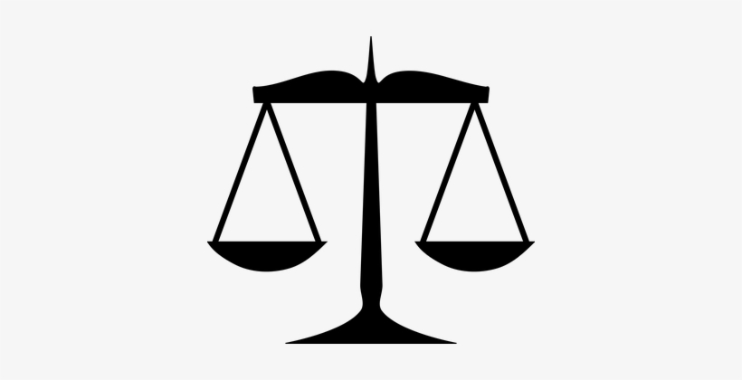 Justice Law Measurement Silhouette Weight.