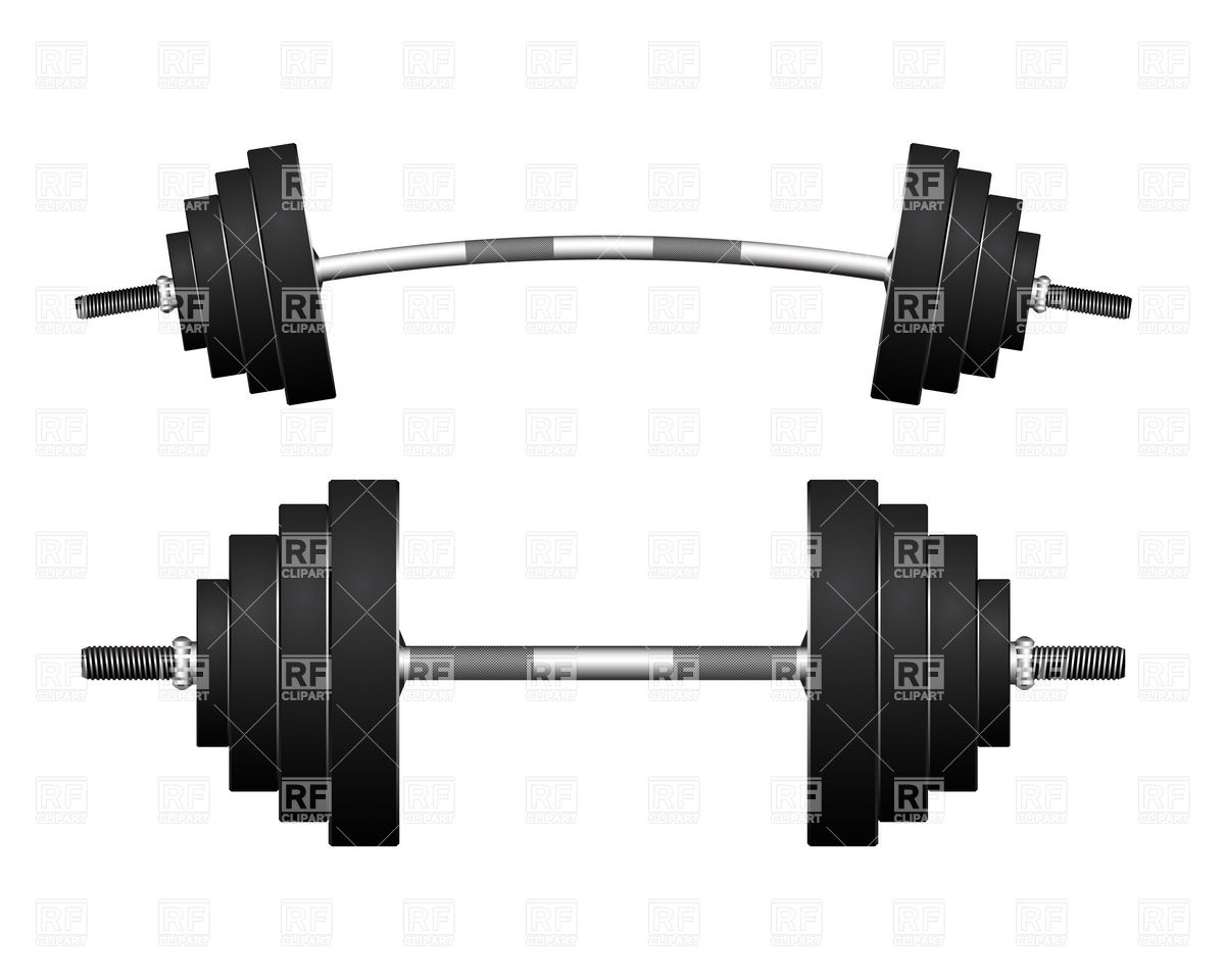 Bent Barbell Clipart.