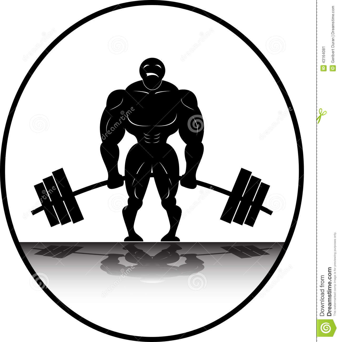 Bending Barbell Clipart.