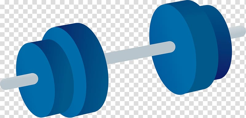 Barbell Physical exercise, Barbell material transparent.
