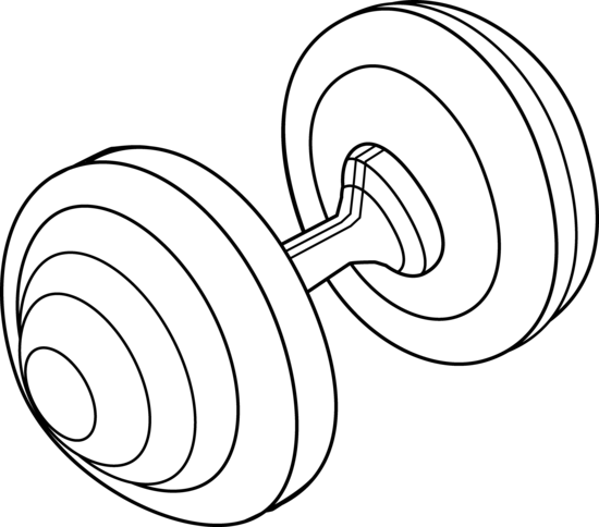 Weight Clipart Black And White.