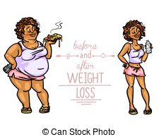 Before and after weight loss Vector Clip Art EPS Images. 250.