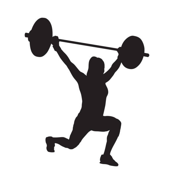 Best Woman Lifting Weights Illustrations, Royalty.