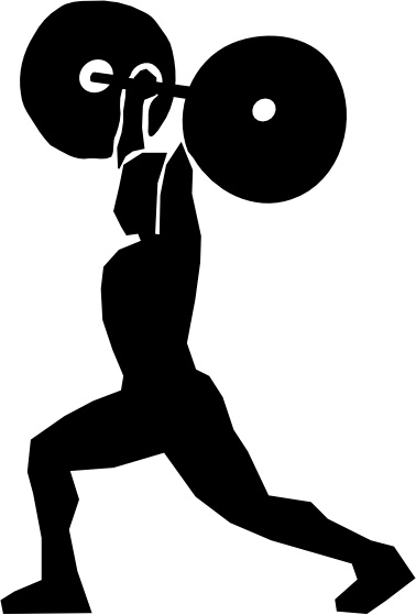 Weight Lifting clip art Free vector in Open office drawing.