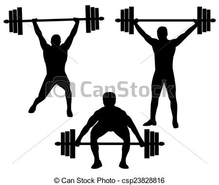 Vector Clip Art of weightlifting.