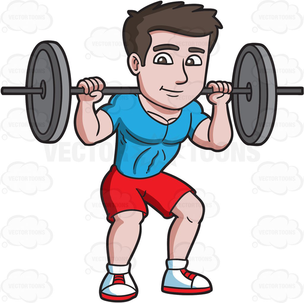 Animated Weightlifting Clipart.