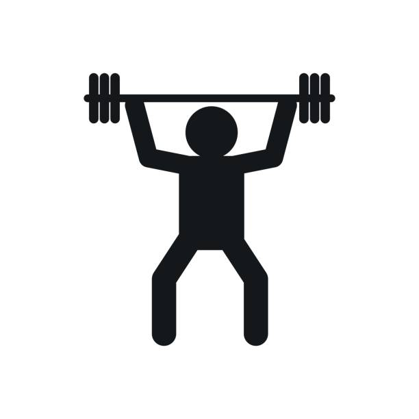 Top 60 Weight Lifting Black And White Clip Art, Vector Graphics and.