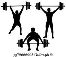Weightlifting Clip Art.