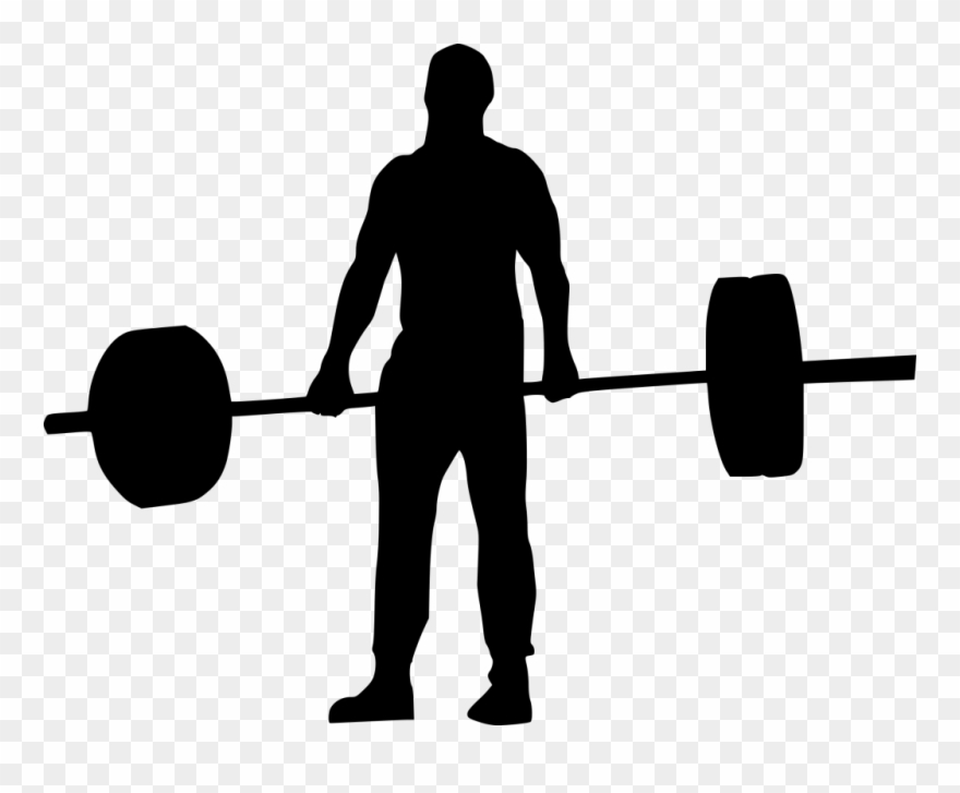 Jpg Library Download Weightlifter Silhouette At Getdrawings.