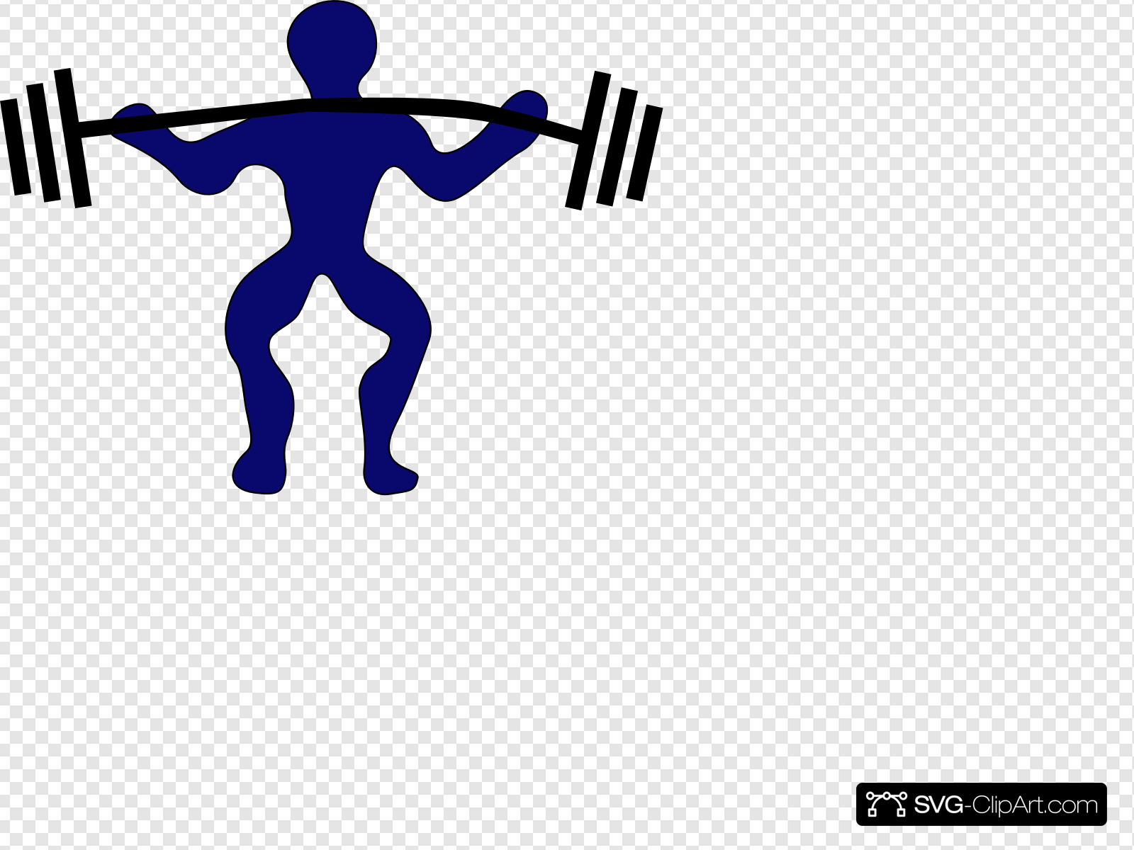 Blue Man Weightlifting Clip art, Icon and SVG.