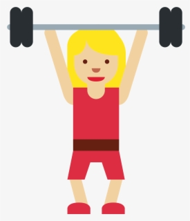 Free Weight Lifting Clip Art with No Background.