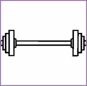 Bar Weights Clipart.