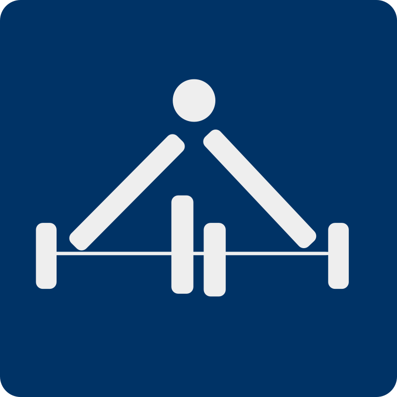 Free Clipart: Weight lifting pictogram.